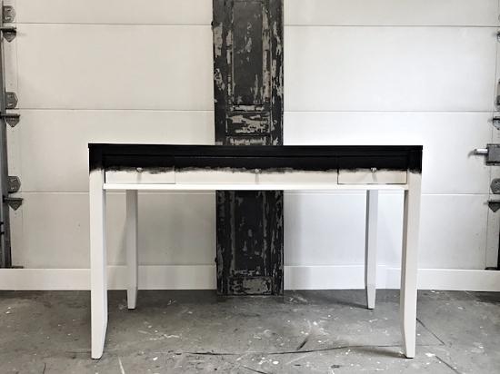 Amazing two tone black u white painted desk