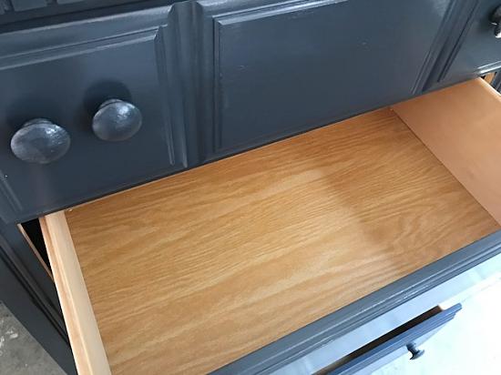 polo blue dresser, 4 drawer