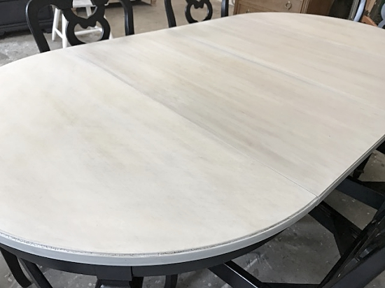 Beautiful Oval Driftwood Gray Dining Table