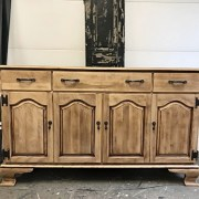 One Ethan Allen Sideboard Four Ways; Natural Wood Sideboard; Rustic Sideboard