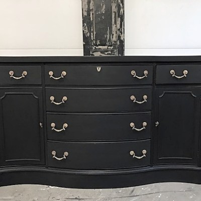Black Dog Salvage Furniture Paint Review |  Black Sideboard