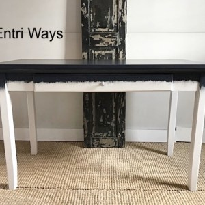 Blue Desk, Blue Abstract Desk by Entri Ways