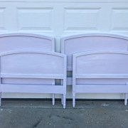 Lavender Girl's Bedroom, lavender twin headboard