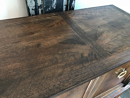Tall Dark stained chest