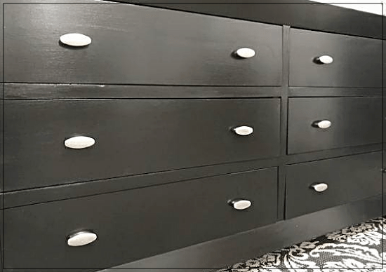 black DTM low lustre enamel dresser