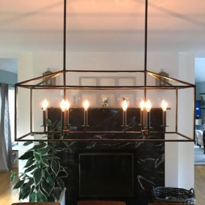 The Big Reveal:   Our New Dining Room Light Fixture