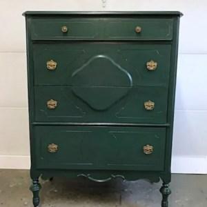 Green & Black Glaze Dresser