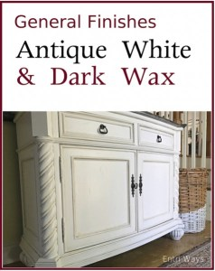 General Finishes Antique White and Dark Wax