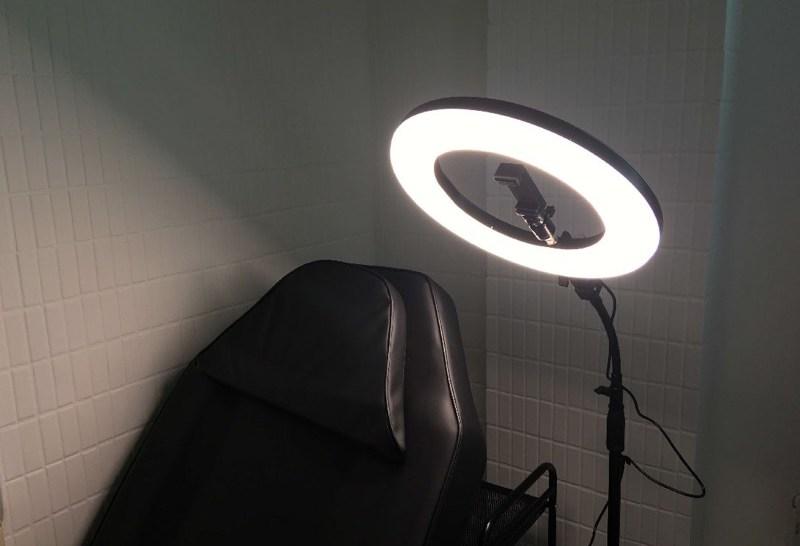 刺青工作燈推薦-14吋YiDA落地環形燈