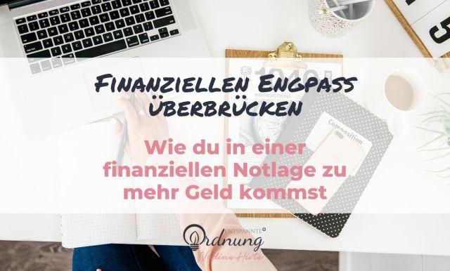Finanzielle Notlage überbrücken