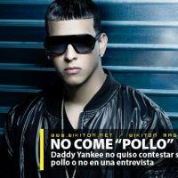 """Daddy Yankee no quiso contestar si comía """"pollo"""""""
