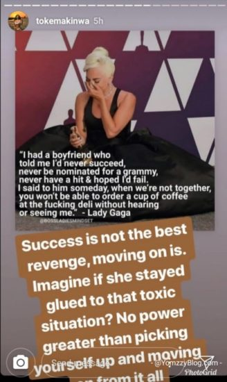 Toke Makinwa Reveals The Best Revenge To Give An Ex After A Broken Relationship