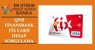 Fix-Card-Hesap-Sorgulama