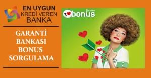 Garanti Bankası Bonus Sorgulama