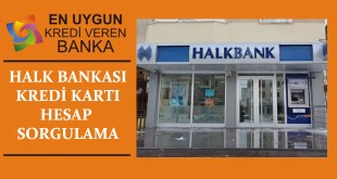 Halk Bankasi Kredi Karti Hesap Sorgulama