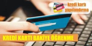 kredi karti bakiye ogrenme