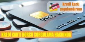 kredi karti borci sorgulama hakkinda