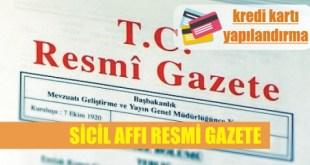 resmi gazete sicil affi