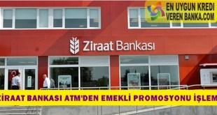 Ziraat Bankası ATM'den Emekli Promosyonu İşlemi