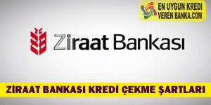 Ziraat Bankası Kredi Çekme Şartları
