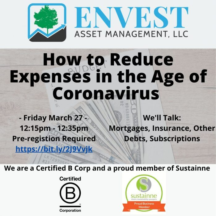 Webinar: How to Reduce Expenses in Age of Coronavirus: 03/27/2020 12:15pm