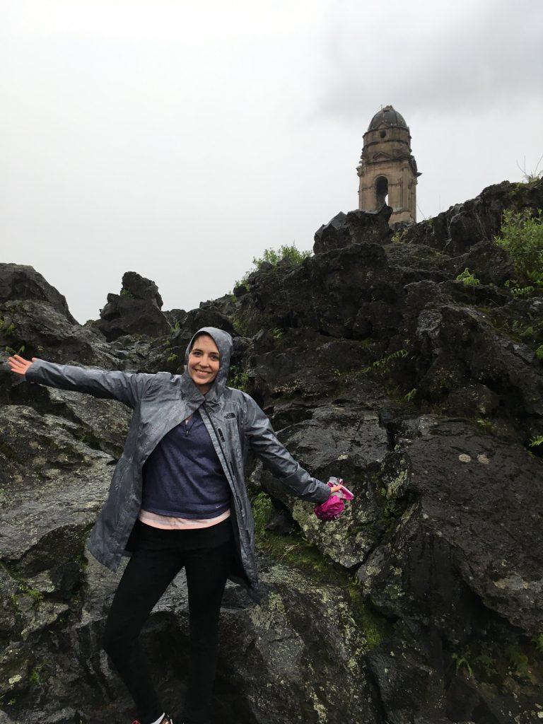 Smiling on volcano