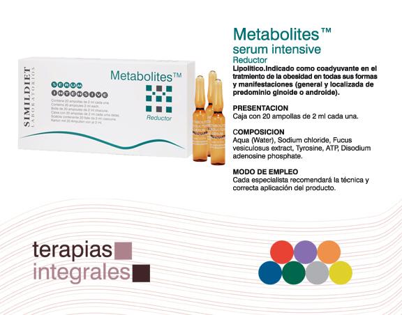 Simildiet Laboratorios - Metabolites (Reductor) 20 ampolletas de 2ml C.U Serum Intensive