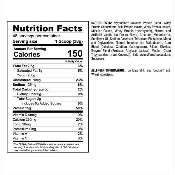 Gaspari Nutrition - Myofusion Advanced Protein 4lbs.