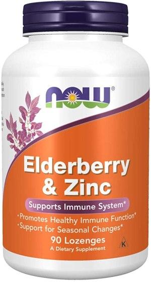 Now Foods - Elderberry & Zinc 90 Tabletas ( La baya del saúco )