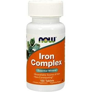 Now Foods - Iron Complex 100 Tabletas ( Hierro)