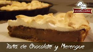 Tarta de chocolate y merengue