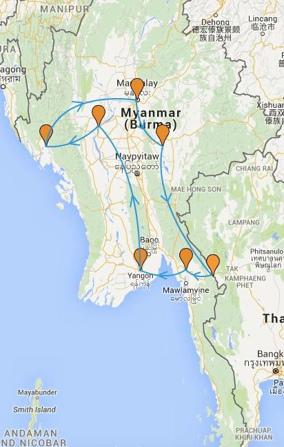 carte-itineraire-birmanie