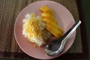 Le riz à la mangue!