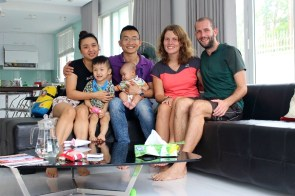 Quang hui et sa famille à Thai Nguyen qui nous ont accueillis comme des rois!