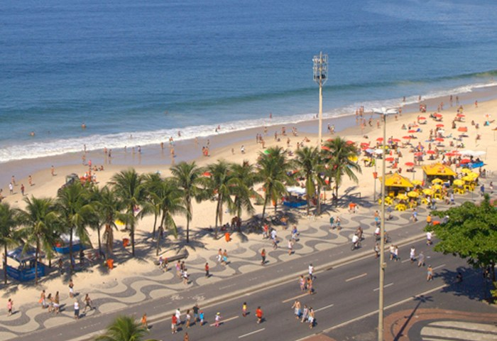 Marche sportive sur Copacabana