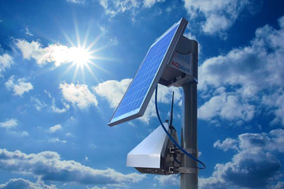 AQMesh Luftmesssystem mit Solarpanel