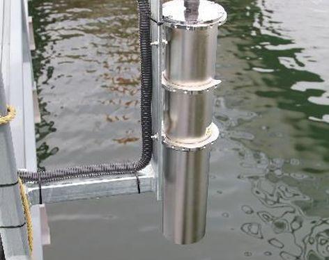 LDI ROW als Metallausführung am Wasser