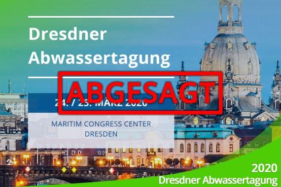 März 2020 – Ankündigung: Dresdner Abwassertagung