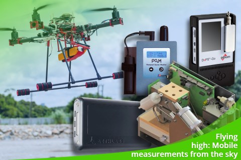 August 2021 – Flying high: Mobile measurements from the sky
