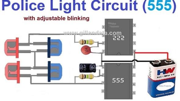 Police Style Strobe Light Circuit