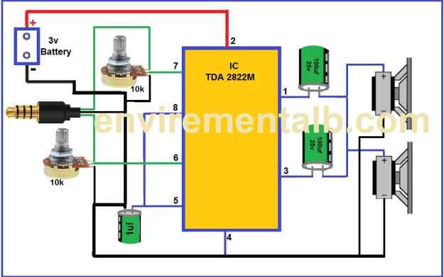 TDA2822 amplifier circuit