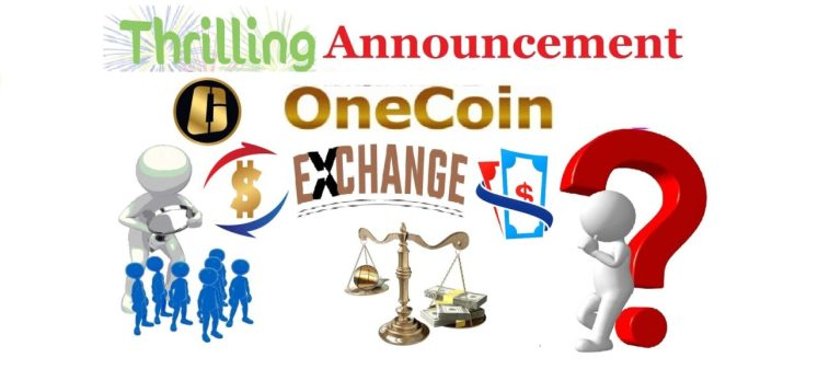 announcement about onecoin