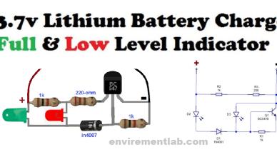 3.7v Battery low full indicator