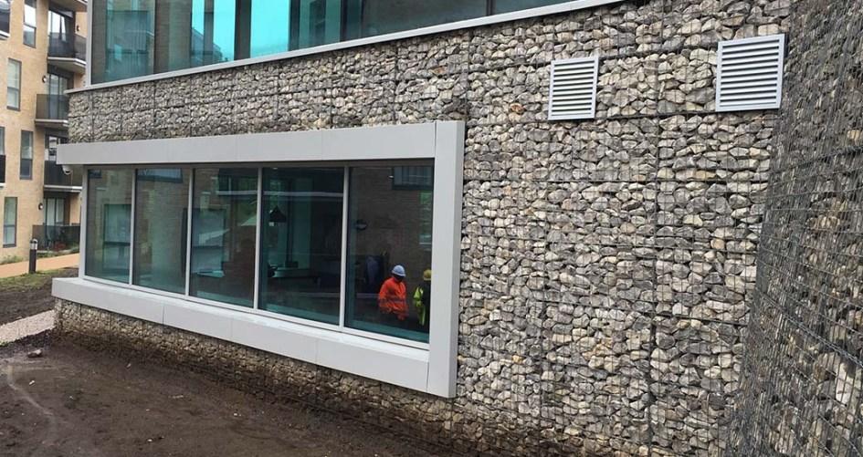 City View Brighton Welded Gabion Architectural Cladding Mass Gravity Retaining Wall Portfolio
