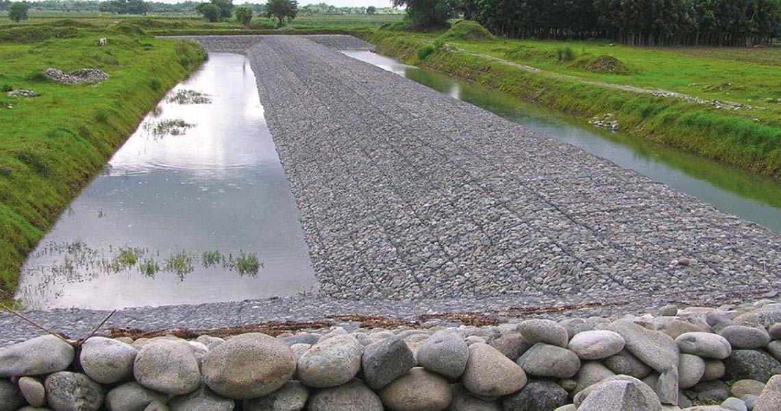 Gabion Mattresses Erosion Protection