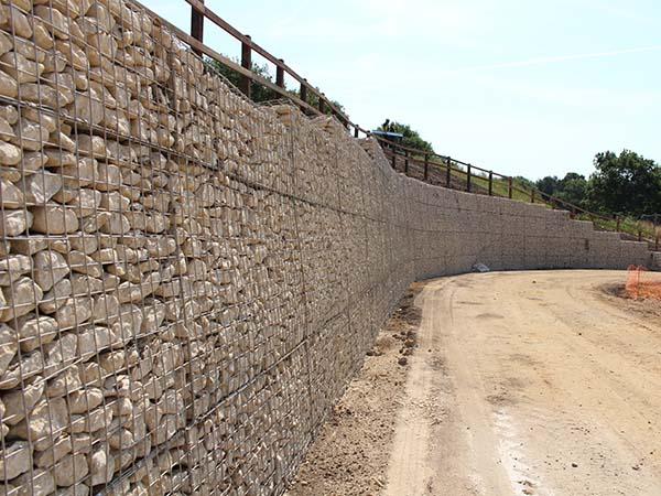 Keephatch Wokingham Mass Gravity Gabion Retaining Wall