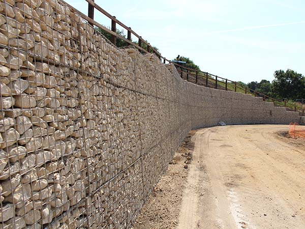 Keephatch Wokingham Mass Gravity Gabion Retaining Wall