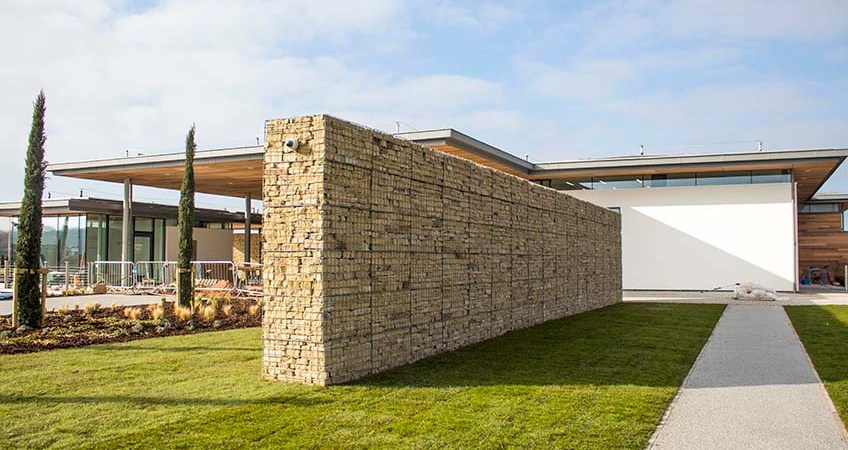 Trent Valley Crematorium Welded Gabion Post Supported Walls
