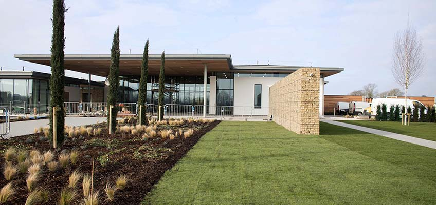 Trent Valley Crematorium Welded Gabion Post Supported Walls