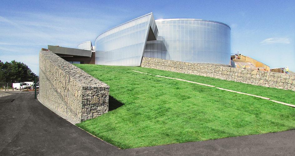 Pwllheli Sailing Club Architectural Cladding Mass Gravity Retaining Wall Welded Gabion Portfolio